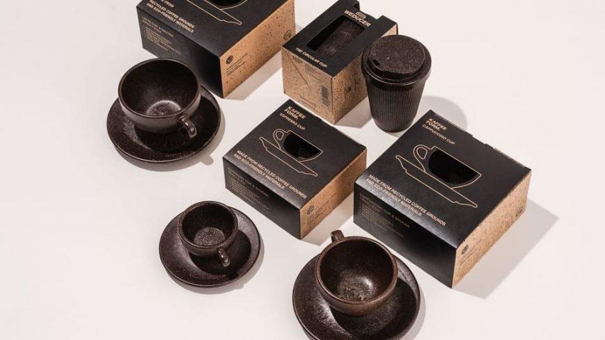 Kaffeeform es un material sostenible hecho de granos de café usados