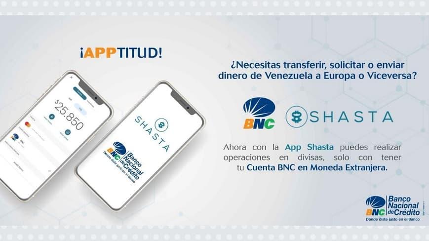El Banco Nacional del Crédito (BNC) estableció una alianza comercial estratégica con la empresa tecnológica SHASTA Technologies (1)