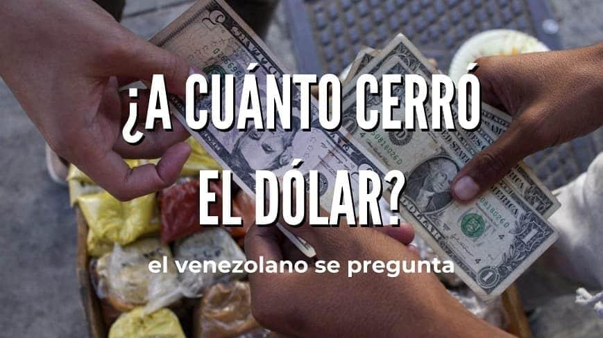A cuánto cerró el dólar hoy