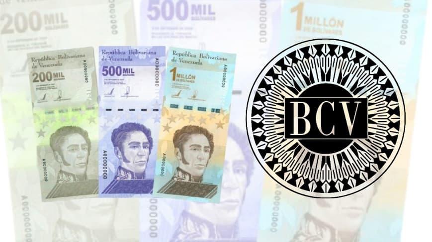 Billete de 1 millón el Banco Central de Venezuela amplió cono monetario