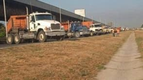 Transportistas y gandoleros ya han protestado ante el desabastecimiento de diésel. A finales de la semana pasada trancaron la Autopista