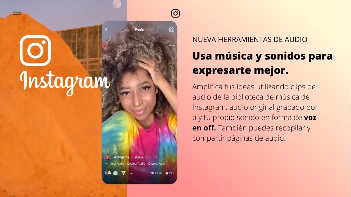 instagram activa voz en off narracion sobre audio