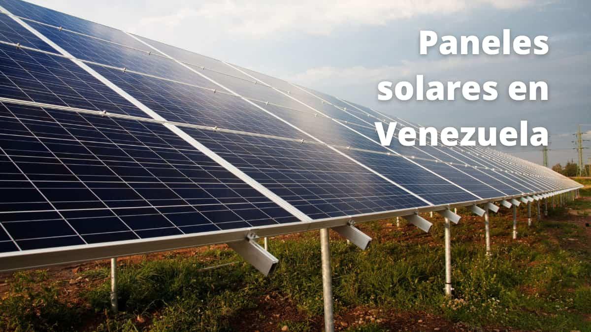 paneles solares en Venezuela