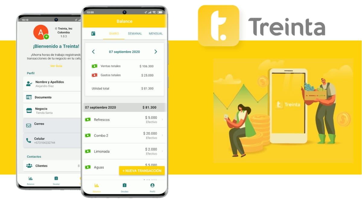 Treinta una App para el manejo financiero