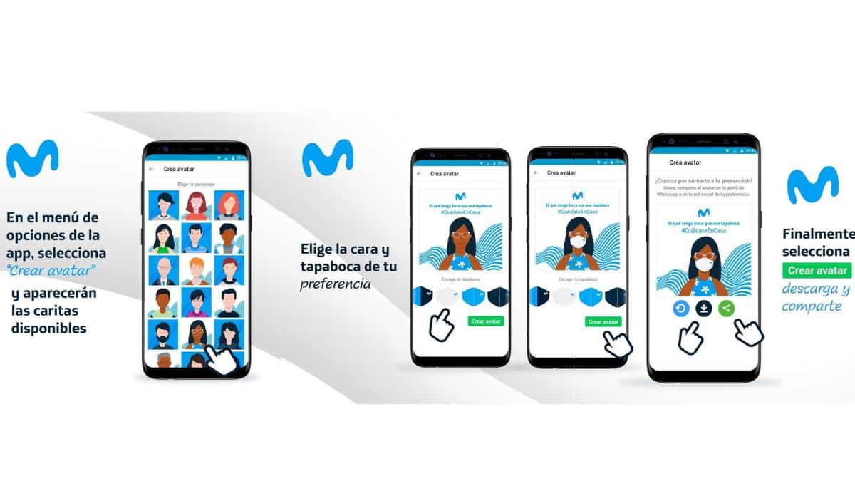 nueva app tapabocas movistar