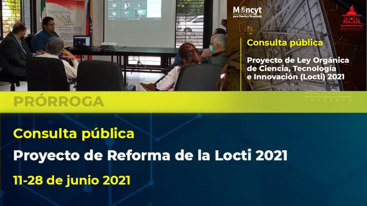 Debate de reforma Locti será extendida el 28 de junio